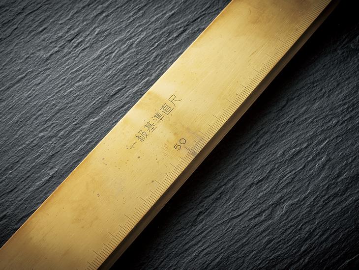 昭和34年の創業当時の礎となった「一級基準直尺」